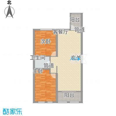 花园校区房花园小学校区房户型图42室2厅1卫1厨户型2室2厅1卫1厨