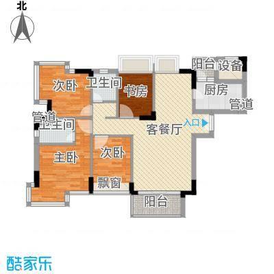 东泰花园丰华苑105.00㎡东泰花园丰华苑3室户型3室