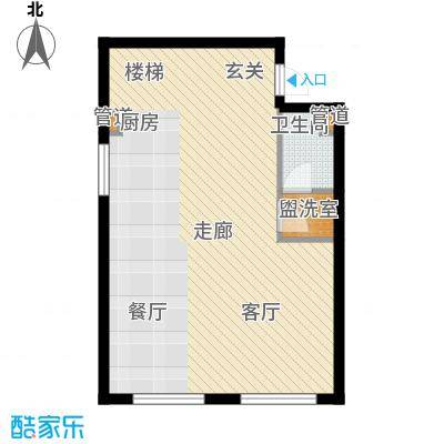 圣罗伦斯75.00㎡圣罗伦斯户型图E户型1层3室2厅2卫户型3室2厅2卫