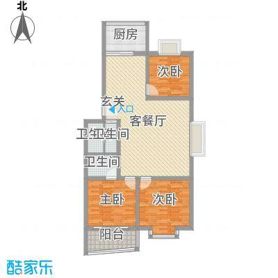 鼎舜赵苑121.26㎡鼎舜赵苑户型10室
