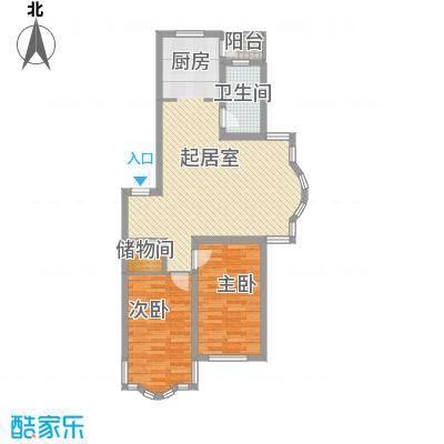 柳湖绿园92.23㎡柳湖绿园户型图2室2厅1卫户型10室