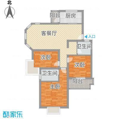 绿地南桥新苑111.00㎡上海绿地南桥新苑H-1型户型10室