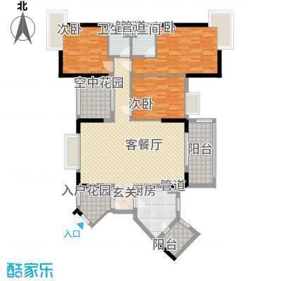 富恒浅水湾134.00㎡富恒浅水湾户型图19栋2-26层02户型3室2厅2卫1厨户型3室2厅2卫1厨
