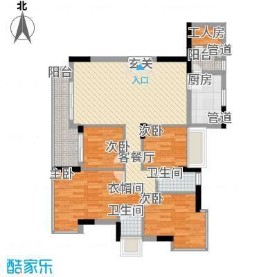 东泰花园荣华苑105.00㎡东泰花园荣华苑4室户型4室