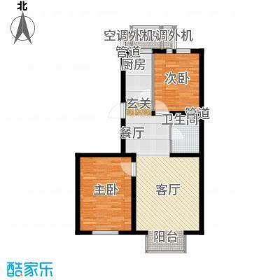 基业百花园 2室 户型图