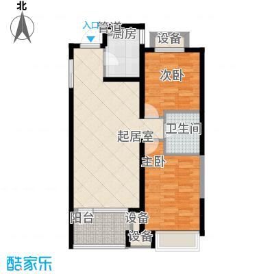 金地锦城金地锦城户型图观景高层(02)户型2室2厅1卫1厨户型2室2厅1卫1厨