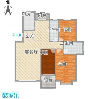 福源山庄 3室户型图