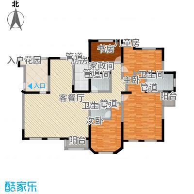 听雨观澜226.00㎡听雨观澜户型图H户型4室3厅3卫1厨户型4室3厅3卫1厨