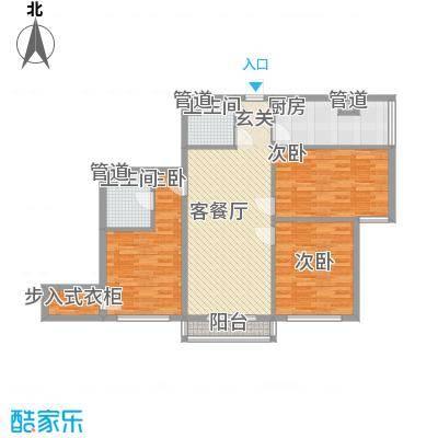惠城楼127.00㎡惠城楼3室户型3室