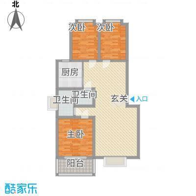 水岸新城132.00㎡水岸新城户型图3室户型10室