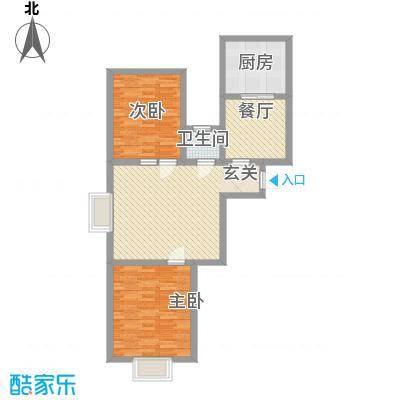 水岸新城97.00㎡水岸新城户型图3室户型10室