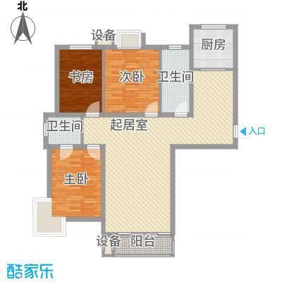 SR国际新城三期131.00㎡SR国际新城三期3室户型3室