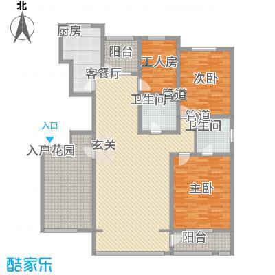 坤泰新界180.00㎡坤泰新界户型图M1户型3室2厅2卫1厨户型3室2厅2卫1厨