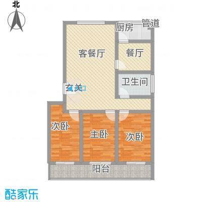 新城金水岸119.00㎡新城金水岸户型图3室2厅1卫户型10室