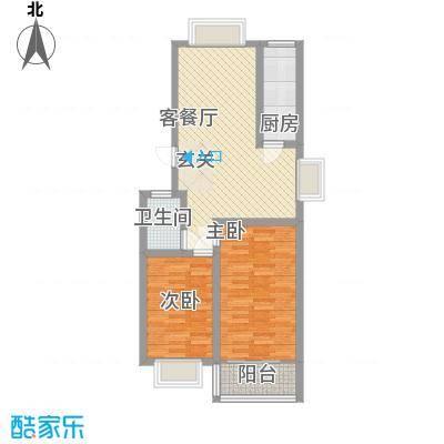 新城金水岸87.50㎡新城金水岸户型图2室2厅户型10室