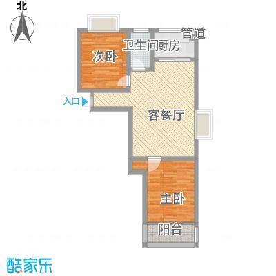 新城金水岸77.50㎡新城金水岸户型图2室2厅户型10室