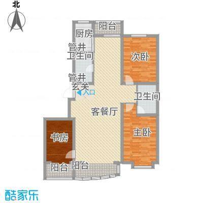 富山花园147.40㎡富山花园户型图3室2厅2卫户型10室
