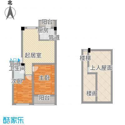 假日名居78.22㎡假日名居户型图D1户型图2室2厅1卫户型2室2厅1卫