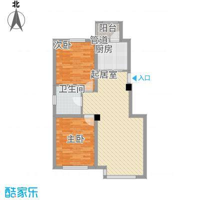 假日名居86.49㎡假日名居户型图E2户型图2室2厅1卫户型2室2厅1卫