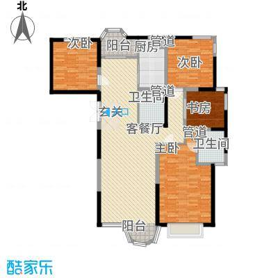 香堤湾183.04㎡香堤湾户型图F4室2厅2卫1厨户型4室2厅2卫1厨