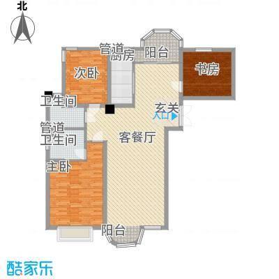 香堤湾155.92㎡香堤湾户型图河畔华宅3室2厅2卫1厨户型3室2厅2卫1厨