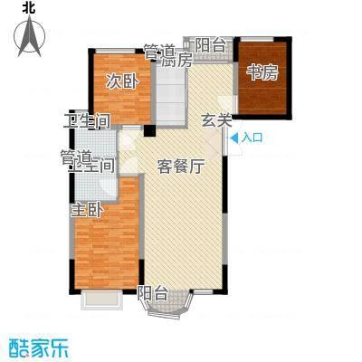 香堤湾146.06㎡香堤湾户型图河畔华宅3室2厅2卫1厨户型3室2厅2卫1厨
