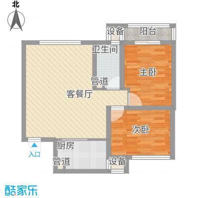 东兴花园101.00㎡东兴花园2室户型2室