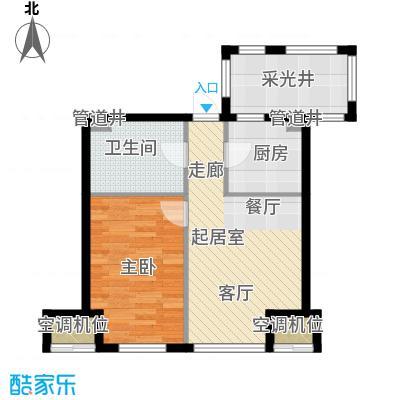 金地滨河国际社区63.00㎡金地滨河国际社区1室户型1室