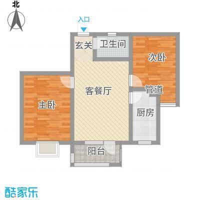 华福国际85.00㎡华福国际户型图B22室2厅1卫户型2室2厅1卫