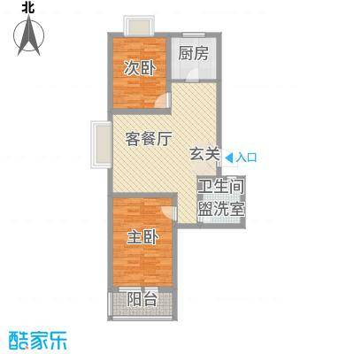 华福国际89.00㎡华福国际户型图B42室2厅1卫户型2室2厅1卫