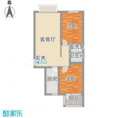 华福国际88.00㎡华福国际户型图B62室2厅1卫户型2室2厅1卫