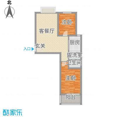 华福国际88.00㎡华福国际户型图B32室2厅1卫户型2室2厅1卫