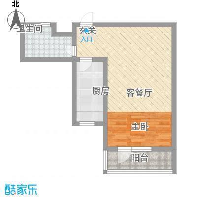 华福国际60.00㎡华福国际户型图A31室1厅1卫户型1室1厅1卫