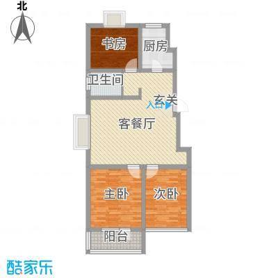 华福国际109.00㎡华福国际户型图c33室2厅1卫户型3室2厅1卫