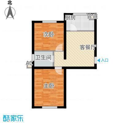 御龙湾65.54㎡御龙湾户型图B1户型2室1厅1卫户型2室1厅1卫
