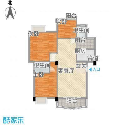 高峰楼81.00㎡高峰楼3室户型3室