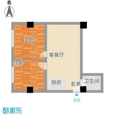 阳光VISA阳光VISA户型图二居室2室2厅1卫1厨户型2室2厅1卫1厨