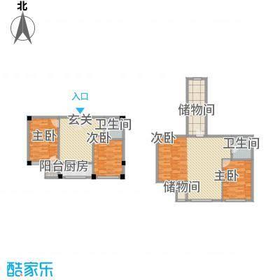 鑫庭苑60.20㎡鑫庭苑户型图2室2厅1卫1厨户型10室