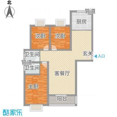 和信花园129.96㎡和信花园户型图H户型3室2厅2卫1厨户型3室2厅2卫1厨