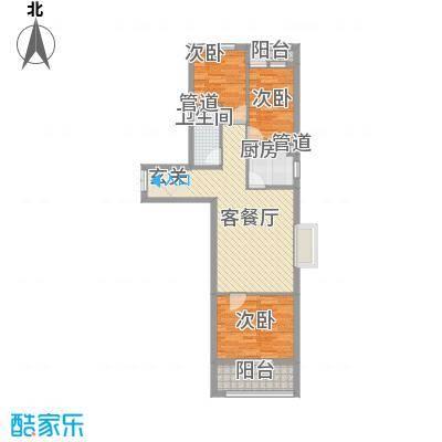 和信花园96.19㎡和信花园户型图L户型3室2厅1卫1厨户型3室2厅1卫1厨