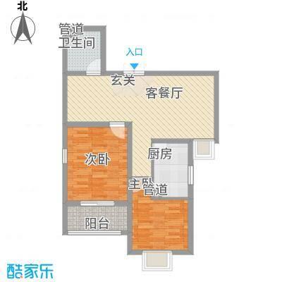 和信花园85.40㎡和信花园户型图M户型2室2厅1卫1厨户型2室2厅1卫1厨