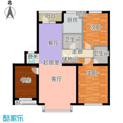 在水一方122.60㎡在水一方户型图3室2厅2卫户型10室