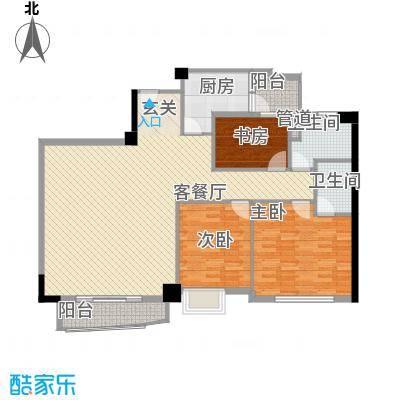 鸿怡花园145.00㎡鸿怡花园3室户型3室