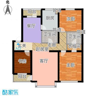在水一方129.44㎡在水一方户型图3室2厅2卫户型10室