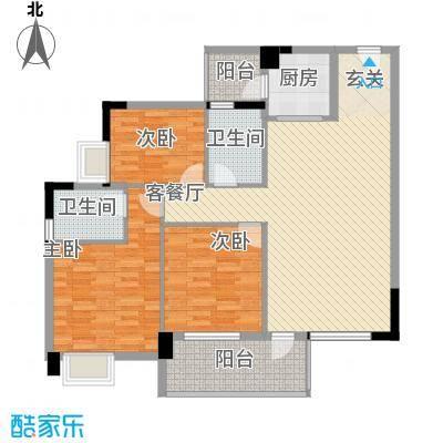 人民医院宿舍135.00㎡人民医院宿舍3室户型3室