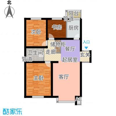 在水一方114.96㎡在水一方户型图3室2厅1卫户型10室