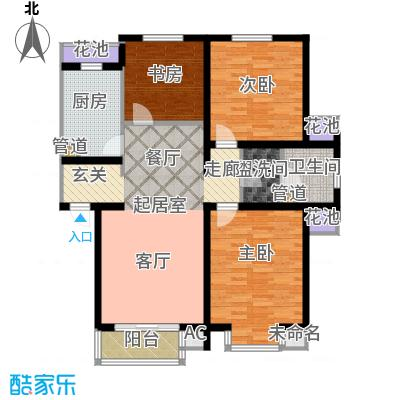 在水一方116.77㎡在水一方户型图3室2厅1卫户型10室
