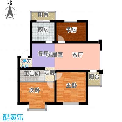 在水一方86.93㎡在水一方户型图3室2厅1卫户型10室