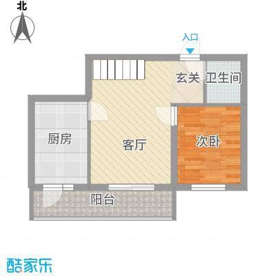明和彩座59.00㎡明和彩座户型图19101060531室1厅1卫1厨户型1室1厅1卫1厨