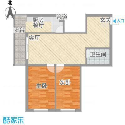 龙房名苑72.66㎡龙房名苑户型图2室1厅1卫1厨户型10室